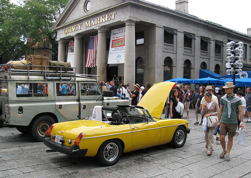 Boston Area MG Club at Faneuil Hall